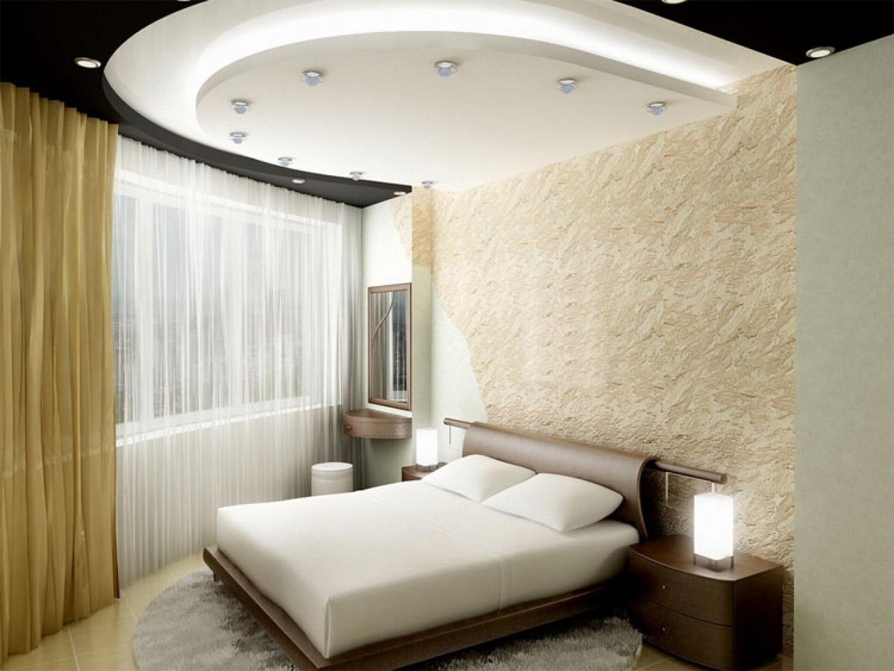 Потолки из гипсокартона своими руками для спальни фото дизайн 10