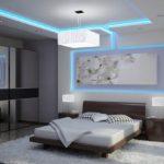ремонт спальни с подсветкой