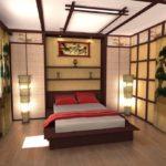 ремонт спальни в азиатском стиле