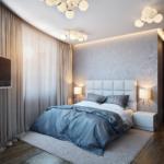 ремонт спальни в серых тонах