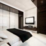 ремонт спальни в стиле хай-тек