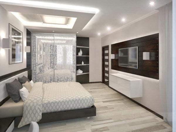 фото ремонта спальни в стиле хай тек