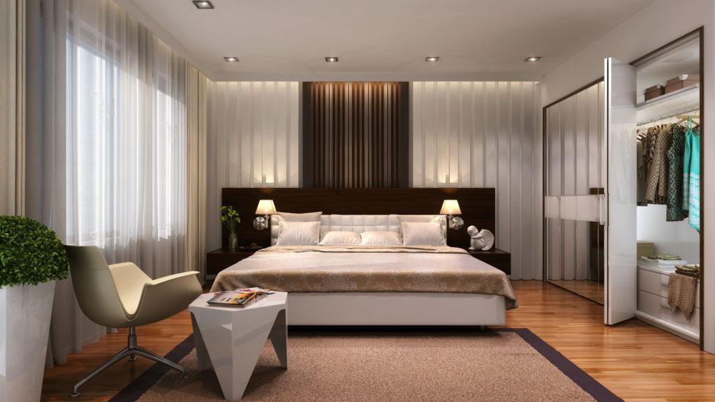 Интерьер большой спальни фото в современном стиле
