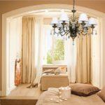 шторы для спальни в бежевых тонах