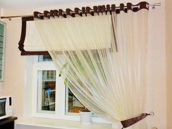 шторы на обычных простых люверсах