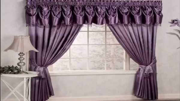 оформление штор в спальне