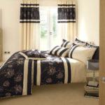 современный красивый дизайн штор в спальне