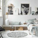 оформление светлой спальни в скандинавском стиле