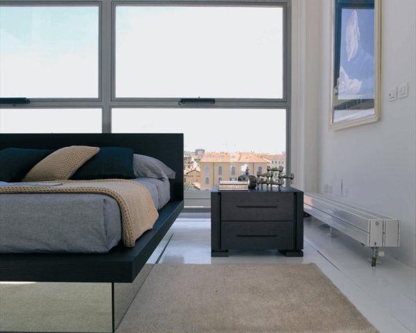 необычный дизайн прикроватной тумбы в спальню