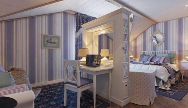изящное оформление спальни в стиле прованс
