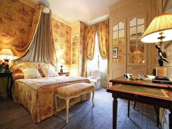 изящный дизайн спальни в стиле прованс