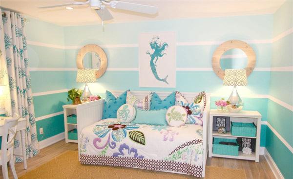 лаконичный интерьер детской спальни