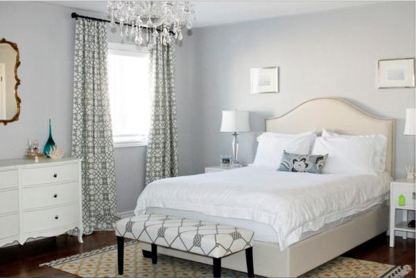 фото модных штор в интерьере спальни