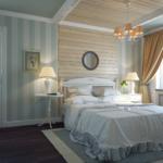 изящный интерьер спальни в стиле прованс