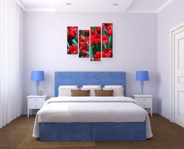 фото красивых картин в спальню
