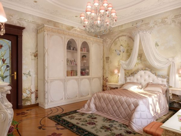светлая спальня в классическом стиле