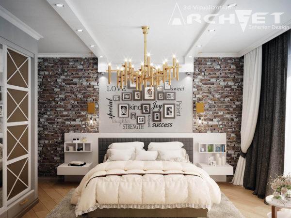 современное оформление спальни в скандинавском стиле