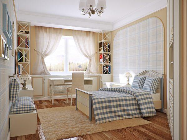 современный дизайн спальни в стиле прованс