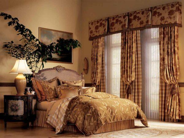 фото красивых штор в спальню