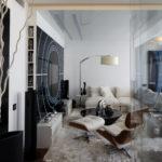 современный стиль для гостиной