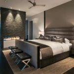 спальня в стиле модерн в загородном доме