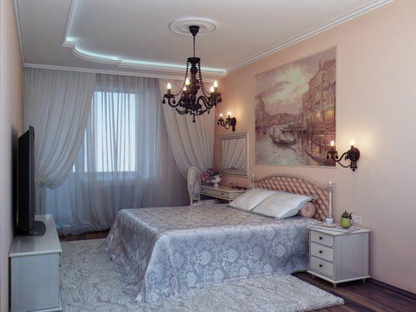 спальня после ремонта в мягких тонах