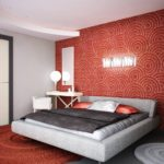 спальня с красными оотенками