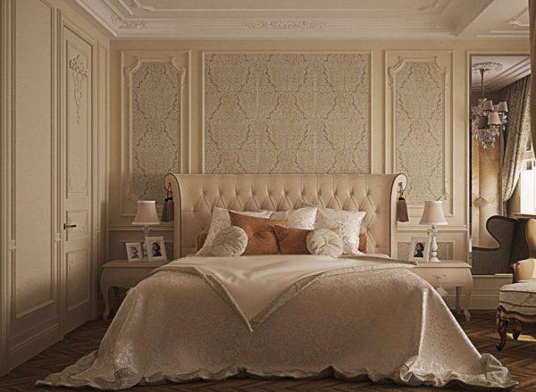 классическая спальня с кроватью