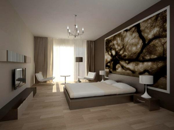 спальня в стиле модерн 18 кв м