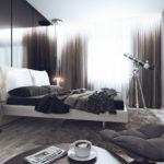 стиль хай-тек в маленькой спальне
