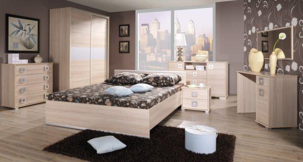 стиль минимализма и обои в спальню