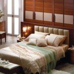 стиль модерн в спальне с тумбой