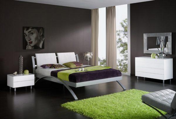 стиль модерн в спальной комнате