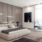 стиль модерн в спальном помещении