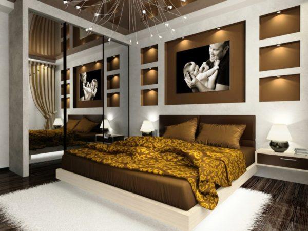 мебель в дизайне светлой спальни