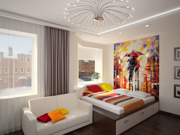 фото светлой спальни в стиле модерн