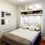 оформление дизайна маленькой спальни