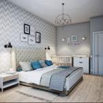 традиционная светлая спальня в скандинавском стиле