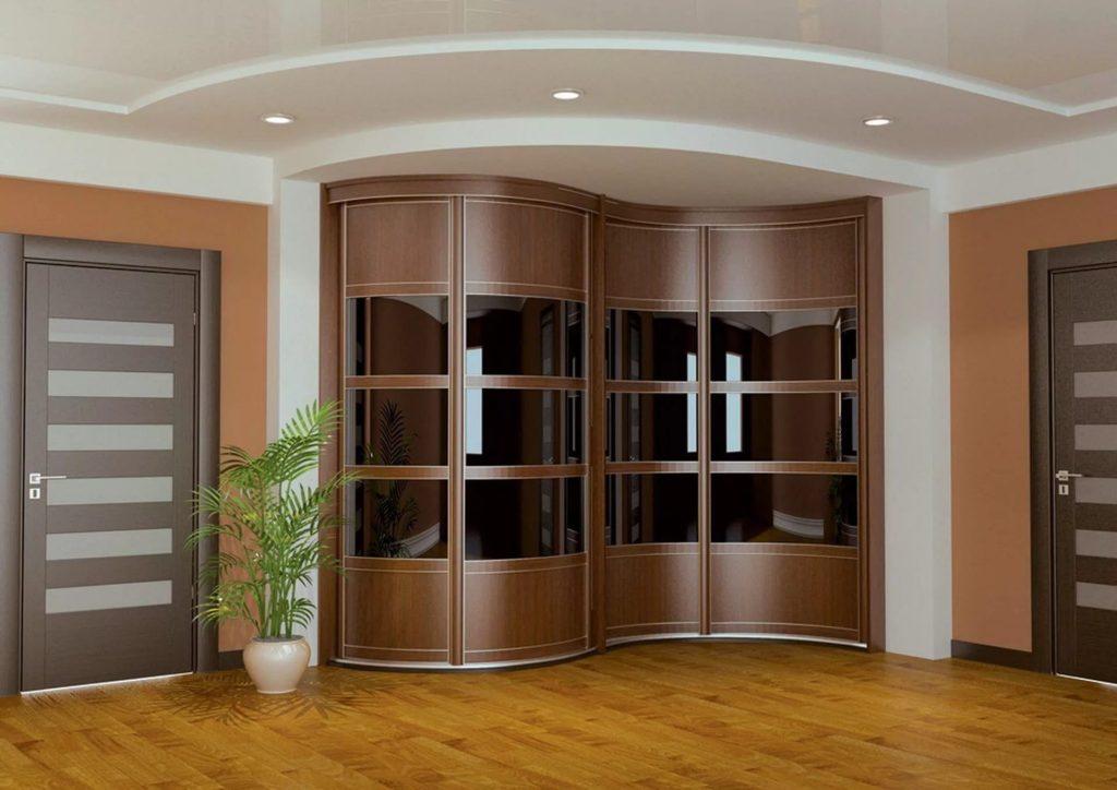 Практичные радиусные шкафы в интерьере. 35 фото идей дизайна.