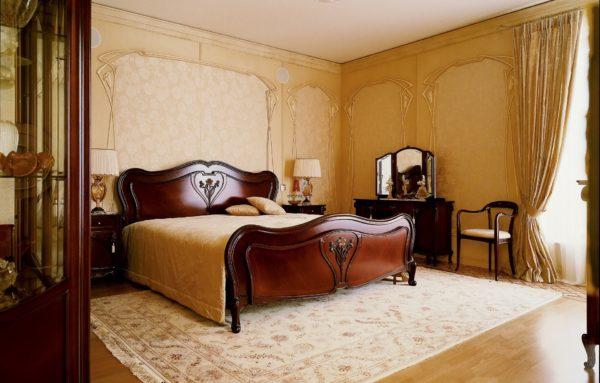 утонченный стиль модерн для спальни