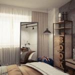 уютная комната в стиле лофт