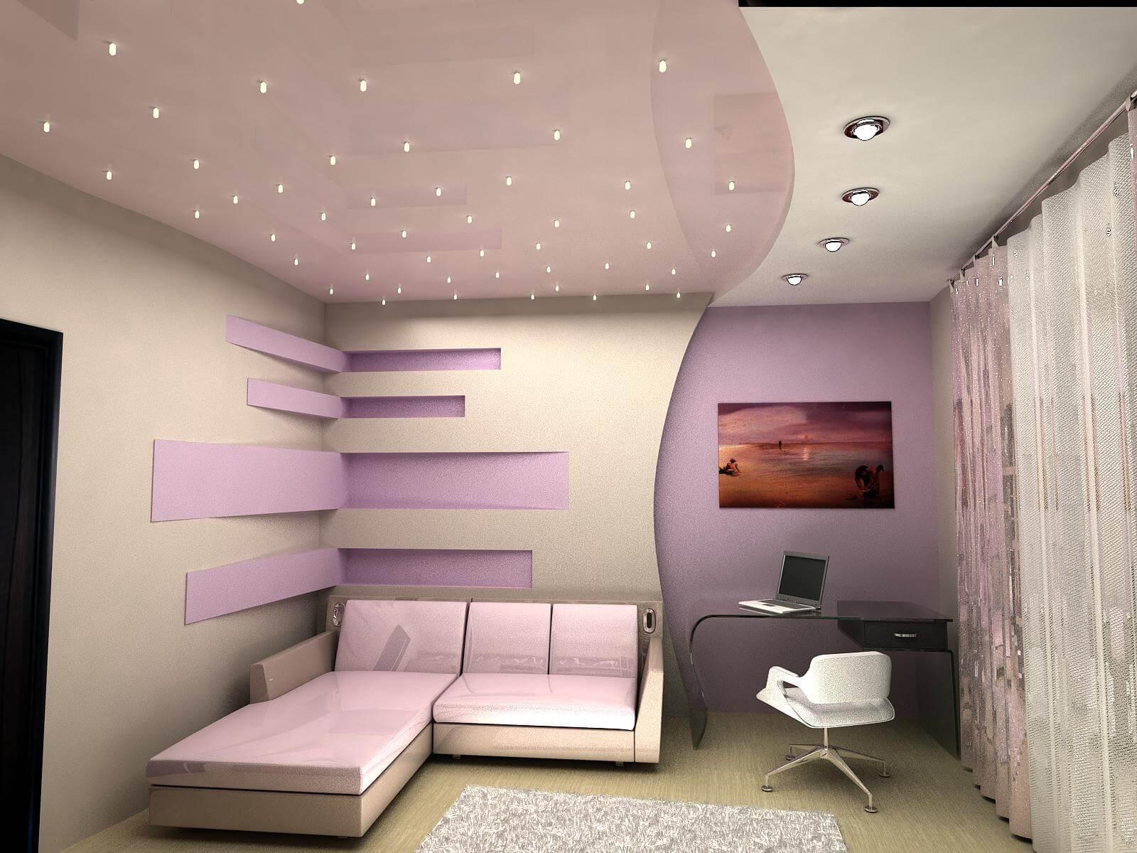 Как сделать спальню из гипсокартона 339