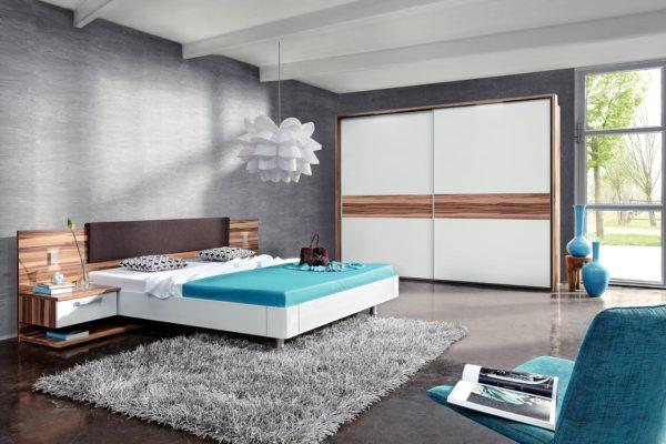 виды спальни в стиле хай-тек