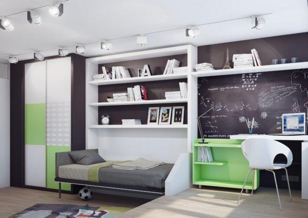 современный интерьер детской спальни