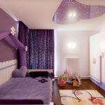 необычный интерьер детской спальни