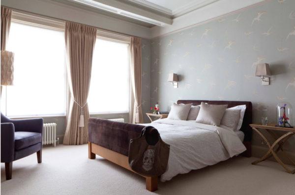 современный интерьер спальни 2017