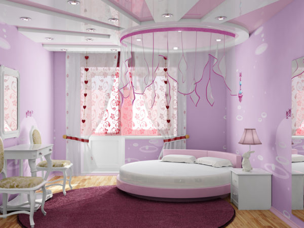 современная светлая детская спальня