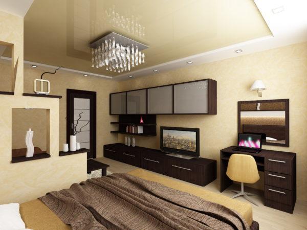 фото дизайна спальни и гостиной