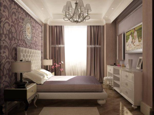 современный интерьер модной спальни 2017
