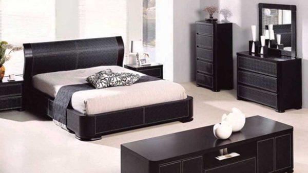 современное оформление спальни и гостиной